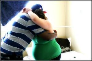 hubby hugs