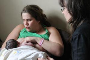natural breastfeeding